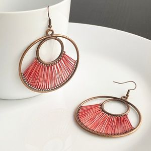 "Jewelry - NEW ""Dawn"" Bronze Earrings (Red)"